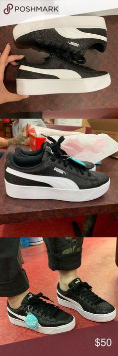 fc6756abb79bce Puma Vikky Platform Glitz Jr fit women size authentic super cute and  comfortable Puma Shoes Platforms