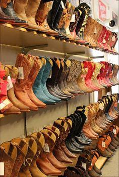 A cowgirls dream closet! :)