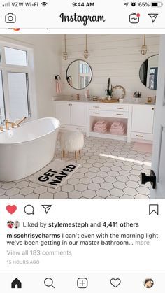 Bathroom interior design 306948530855824525 - Love this bathroom. Probably would do wood floors or squared tile Source by Dream Bathrooms, Dream Rooms, Beautiful Bathrooms, Teen Bathrooms, Master Bathrooms, Shiplap Master Bathroom, White Bathrooms, Small Bathrooms, Bathroom Inspiration