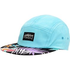 Stussy Girls Hawaiian Black   Mint Camp 5 Panel Hat Huf Hats f28f70cad00