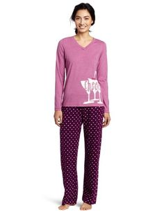 Hue Sleepwear Women`s Graphic Cheers Sleepwear Set $23.20