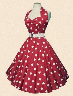 red 50ties dress