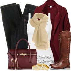 Chunky Oversized Cardigan, created by cindycook10 on Polyvore