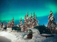 Kakslauttanen Arctic Resort, Finland. Winter snow night screenshot world aurora