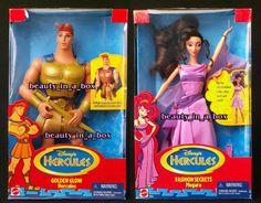 Golden Glow Hercules and Fashion Secrets Megara Doll Disney Barbie Lot 2 | eBay