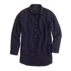 Drapey oxford crepe popover. Wear with navy Ryder pant.