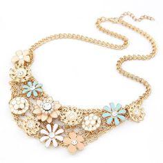 Summer Breath Gem Flower Elegant Necklace | Bling By Shauna