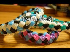 Double Braid Rainbow Loom Tutorial ONE LOOM!!!