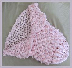 Sweet Princess Cocoon-ghan Crochet Pattern - FREE! (Uses Crocodile Stitch).