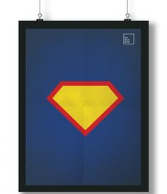 Pôster/Quadro minimalista Super Homem
