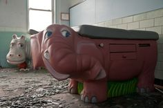 Childrens Medical Examination Tables.  Abandoned State Center for Developmentally Disabled Children - Circa 2011