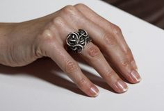 Sterling Silver Ring Metalwork Handcrafted ring by MinimalVS, $173.00