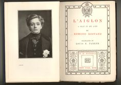 "The frontispiece for the American First Edition of ""L'Aiglon"" by Edmond Rostand features a photo-potrait of the beautiful Maud Adams in her role as NApoleon II, Duke of Reichstadt. SOLD"