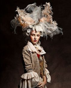 Marie Antoinette by Vincent Alvarez for Aestus Magazine Inspiration. Marie Antoinette b Rococo Fashion, Fashion Art, Fashion Fashion, High Fashion, Fashion Shoes, Fashion Trends, Mode Baroque, Rococo Style, Vogue