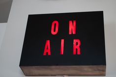 """DIY """"On Air"""" Box.  I think I need to make one of these for Zack's studio!"""