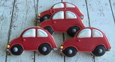 One Dozen Car Decorated Sugar Cookies by DolceDesserts on Etsy Car Cookies, Fancy Cookies, Cupcake Cookies, Cookies Decorados, Galletas Cookies, Cookie Icing, Royal Icing Cookies, Rodjendanske Torte, Kreative Desserts