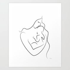 Mutterschaft Tattoos, Baby Tattoos, Tatoos, Angel Drawing, Baby Drawing, Line Drawing, Minimalist Drawing, Minimalist Art, Linear Tattoos
