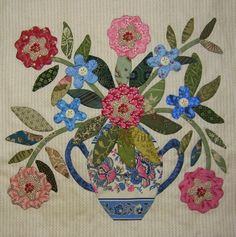 """JANE'S THREADS AND TREASURES: """"Een Caswell Vaas.......A Caswell Vase"""""""