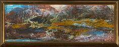 Gudrun Kongelf, Landskap, 1969 olje på plate