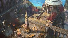 Bridge to the Temple of Mars, Sam Chon on ArtStation at https://www.artstation.com/artwork/oELWm