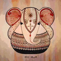➳➳➳☮ American Hippie Art - Indian Elephant