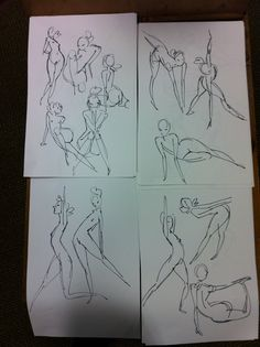 15-second gesture sketches by Rad Sechrist (Dreamworks storyboard artist)