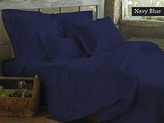 SNUG BED Unattached Waterbed Sheets Set Fits up to 15 Deep Pocket 1 On Amazon Great Gift For Dorm Mattresses 600 Bright Collection Luxurious Bedding Sheets  Deep Pocket  High Egyptian Cotton Quality with Soft Silky Touch With Extremely Comfortable All with 100 Money Back Guarantee GORGEOUS Navy Blue Color CalKing Size  Solid Pattern ** Find out more about the great product at the image link.