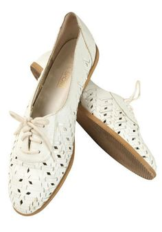 vintage afternoon tennis flats, ooak
