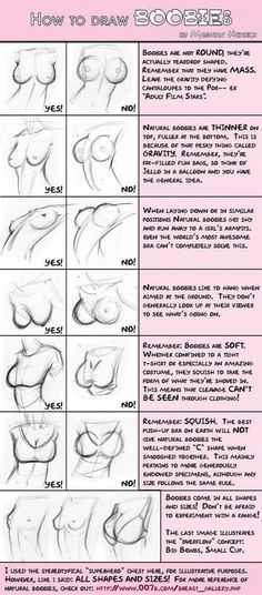 How to draw real boobies