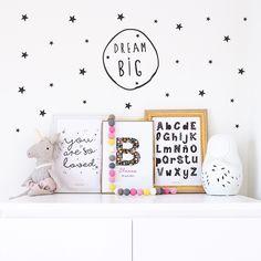 Vintage Tags, Dream Big, Ideas Para, Kids Room, Room Decor, Bedroom, Wallpaper, Grande, Silhouette