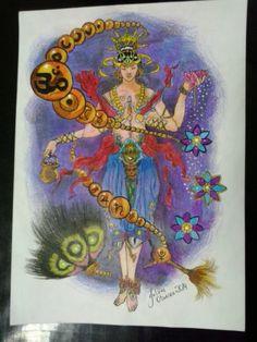 Hindu, rosario, art, desenho, tattoo, flower, planet.