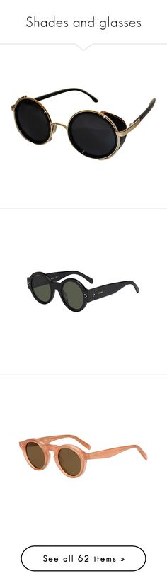 """Shades and glasses"" by mywayoflife ❤ liked on Polyvore featuring accessories, eyewear, sunglasses, glasses, black, topshop sunglasses, round frame sunglasses, round sunglasses, round frame glasses and party glasses"
