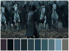 Game of Thrones Director: Miguel Sapochnik Cinematography: Fabian Wagner Movie Color Palette, Colour Pallete, Color Schemes, Color Palettes, Colour Combinations, Color In Film, Mood Board Interior, Pantone, Cinema Colours
