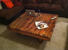 The Putnam: Pallet Coffee Table, Custom Wooden Built by GeorgiaPallet on Etsy