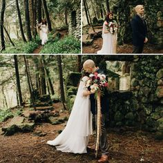 Beautiful elopement in the Oregon mountains