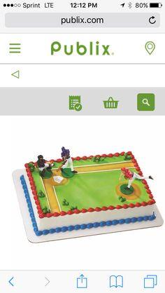 Baseball cake Publix Baseball Treats, Cake, Baseball Desserts, Kuchen, Torte, Cookies, Cheeseburger Paradise Pie, Tart, Pastries