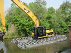#Caterpillar Excavator life raft