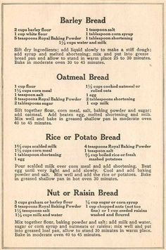 Recipe Booklet Page 2