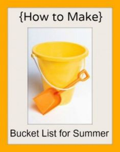 how to make a summer bucket list.