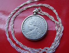 """1953 IRISH LUCKY RABBIT COIN PENDANT on a 28/"""" 925 STERLING SILVER Chain"""
