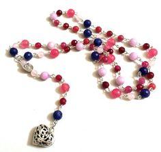 Collana in stile rosario collana di agata di AnotherLAgrein