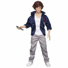 "One Direction Singing Dolls Collection, Harry by One Direction. $24.19. 12"" collector figure with outfit, shoes, and microphone. Harry sings hit song ""What Makes You Beautful"". Collect them all (Each sold separately). Outfit shows signature style. From the Manufacturer                Sing along with your favorite 1D band member. 12"" singing dolls featuring a 30-second clip from the hit songs ""What Makes You Beautiful"" OR ""One Thing"". Each doll comes with uniqu..."