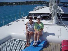 Catamaran in the Virgin Islands