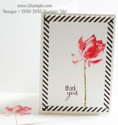 Learn how to create a mitered corner using washi tape. Featuring Stampin' Up!'s Lotus Blossom stamp set. #SAB #lotusblossom #iStampin #SU #stampinpup