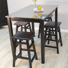 Have to have it. Morgan Stainless Steel Top Bar Table - Black - $379.99 @hayneedle