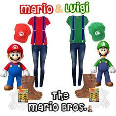 """DIY Mario & Luigi Halloween Costumes"" by jessicaleila on Polyvore"