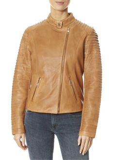 This is the 'Hestia' Cognac/Tan Leather Jacket by our friends at Rino and Pelle! Everybody needs a trusty leather jacket. It's always one of the most well-worn pieces in a wardrobe - trust us. SHOP NOW! Black Biker Jacket, Bomber Jacket, Tan Leather Jackets, Spring Jackets, White Leather, Shop Now, London, Shopping, Collection