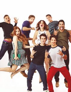Tyler Hoechlin and his Teen Wolf family