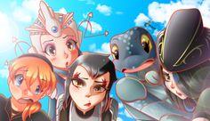 TMNT GIRLS-April,Renet,Karai,Mona and Shinigami