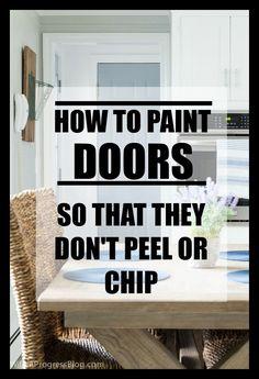 Paint a door so that it won't chip or peel   interior, exterior doors & cabinets   paint doors without sanding or priming via @wifeinprogressblog